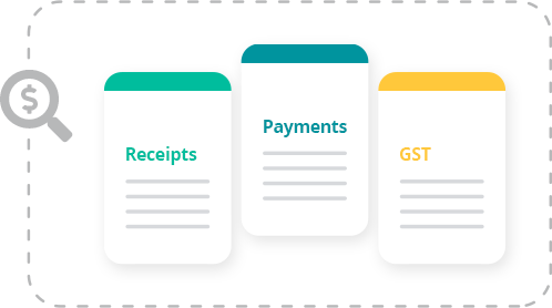 Who knew your cashflow could look so good. In real-time too! Gain immediate clarity over your net business. Take control by keeping track of receipts, payments and GST. Watch your net position change real-time.